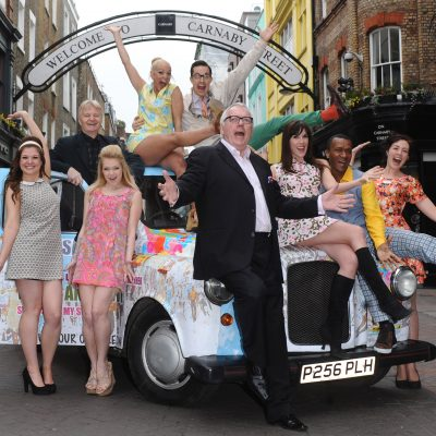 Photo Must Be Credited ©Kate Green/Alpha Press 076917 28/02/2013  Tricia Adele Turner with Director Bob Thompson Verity Rushworth and Cast Members  Carnaby Street The Musical Photocall in London